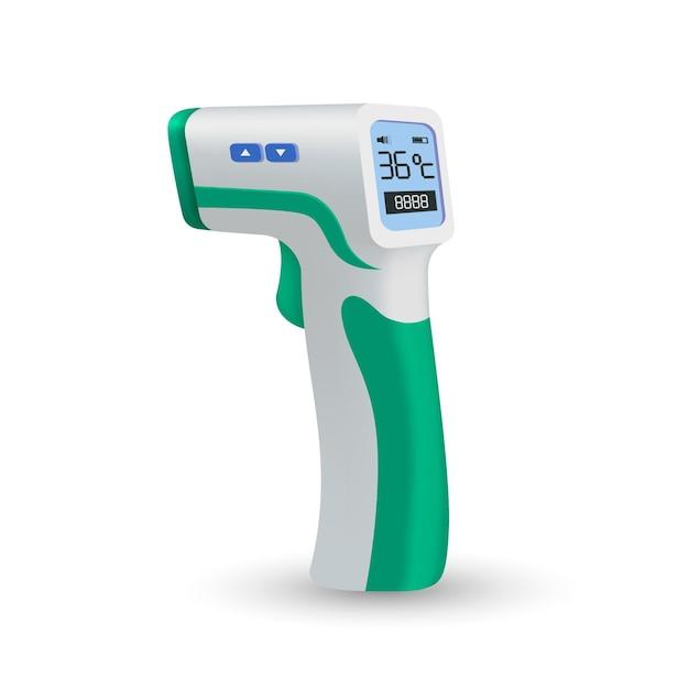 Realistische contactloze infraroodthermometer Premium Vector