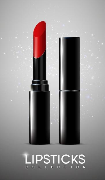 Realistische cosmetische make-up poster Gratis Vector