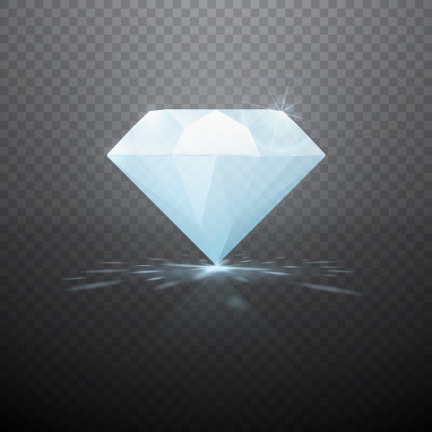Realistische diamant geïsoleerd Premium Vector