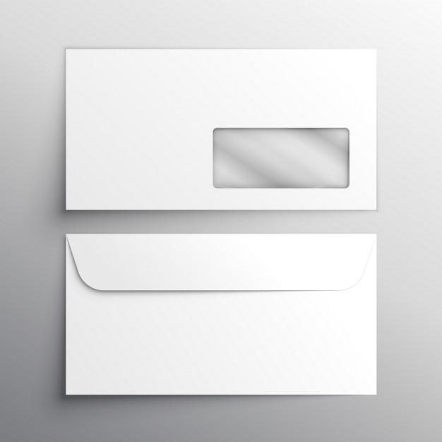 Realistische envelop mockup template Gratis Vector