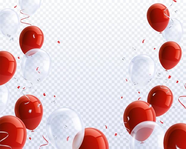 Realistische feestballonnen set Gratis Vector