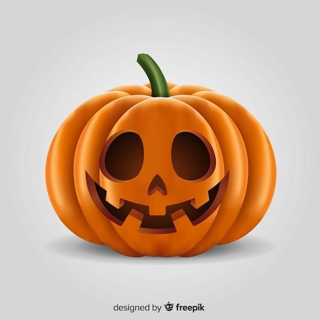 Realistische gelukkige pompoen van halloween Gratis Vector