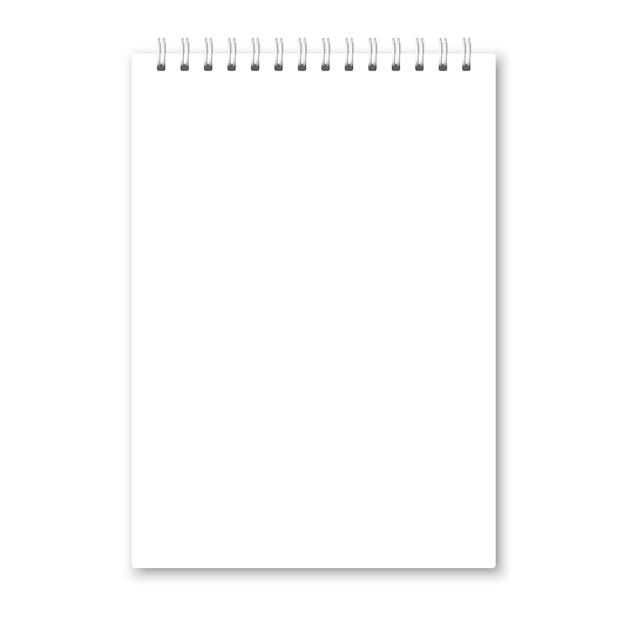 Realistische geopende notebookomslag Premium Vector