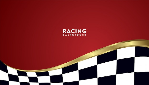 Realistische gouden metalen racen achtergrond, racing vierkante achtergrond Premium Vector