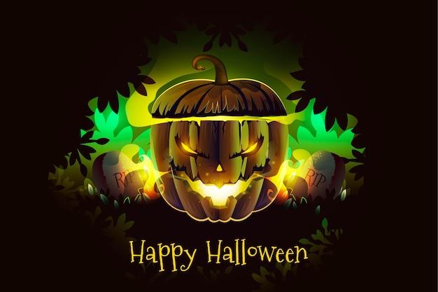 Realistische halloween-achtergrond Gratis Vector