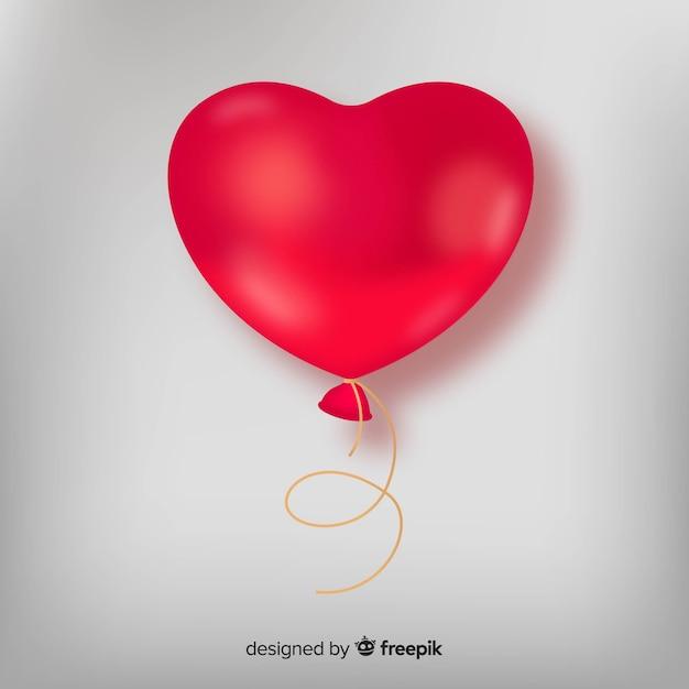Realistische hart ballon achtergrond Gratis Vector