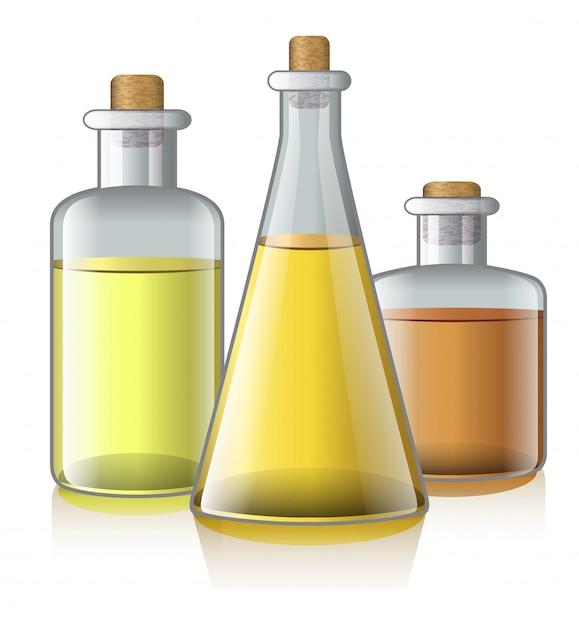 Realistische illustratie van aromatische olie. aromatherapie, spa salon, fles. lichaamsverzorging concept. Gratis Vector