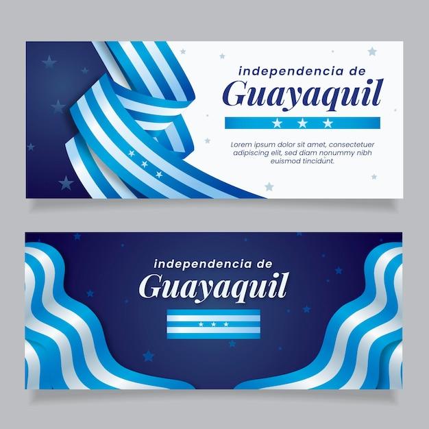 Realistische independencia de guayaquil-banner Gratis Vector