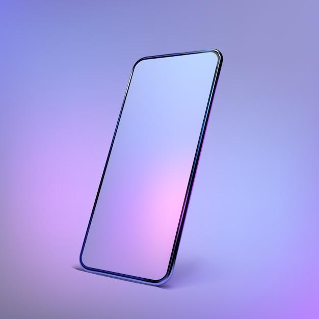 Realistische kleurrijke smartphoneillustratie Premium Vector