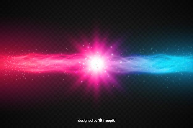 Realistische krachten crashen lichteffect Gratis Vector