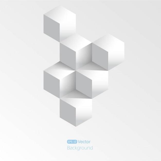 Realistische kubusachtergrond Gratis Vector