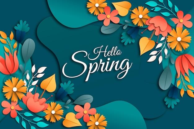 Realistische lente achtergrond Gratis Vector