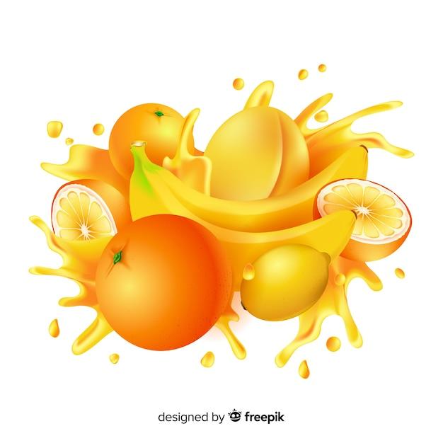 Realistische mango achtergrond Gratis Vector