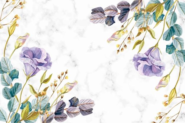 Realistische met de hand geschilderde bloemenachtergrond Gratis Vector