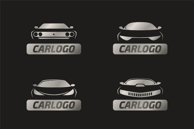 Realistische metalen auto logo concept Gratis Vector