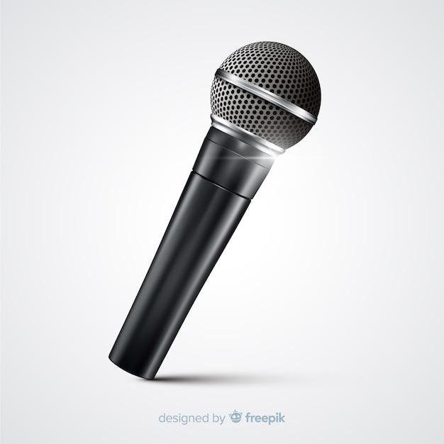 Realistische moderne microfoon Gratis Vector