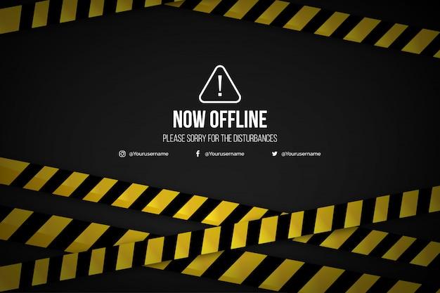 Realistische offline twitch-sjabloon voor spandoek als achtergrond Gratis Vector