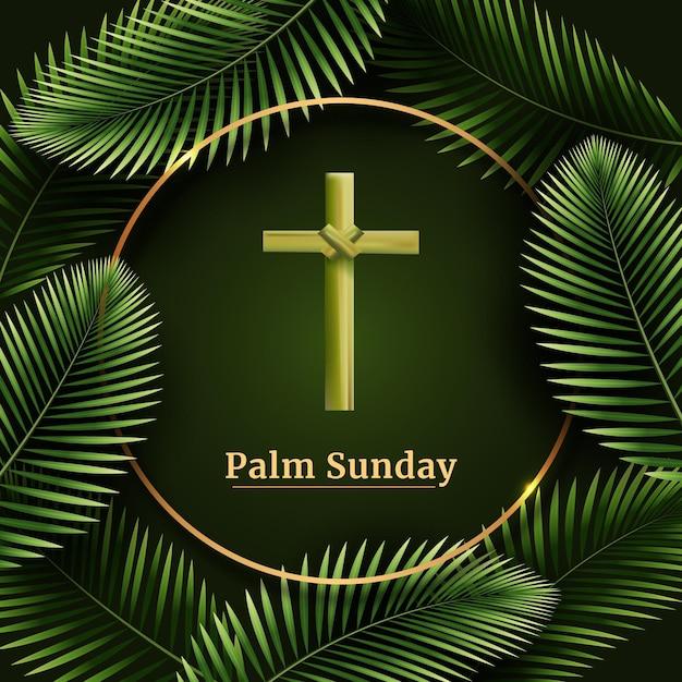 Realistische palmzondag illustratie Gratis Vector