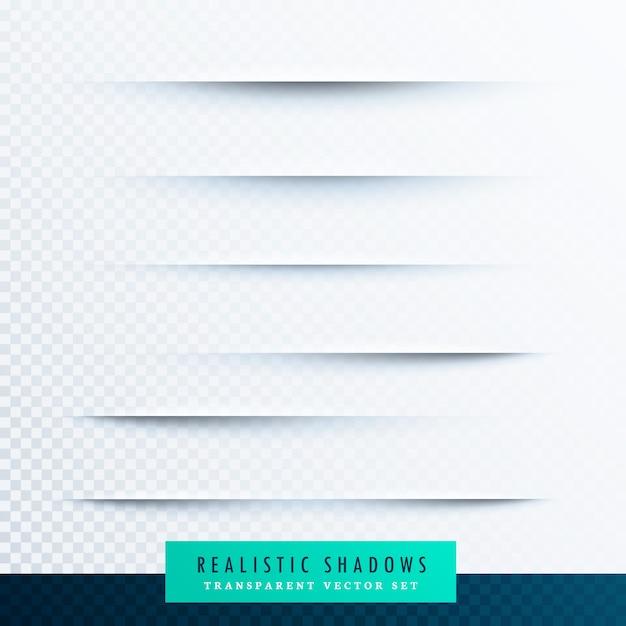 Realistische papier schaduwen effect collectie achtergrond Premium Vector