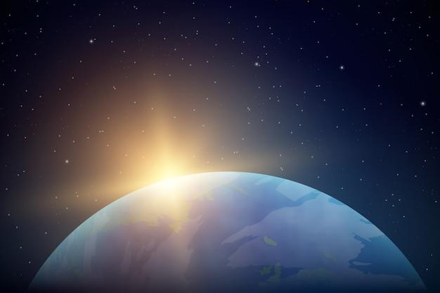 realistische planeet aarde vanuit de ruimte | vector | premium download