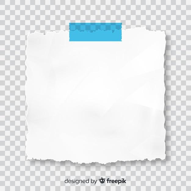 Realistische postnota op transparante achtergrond Gratis Vector