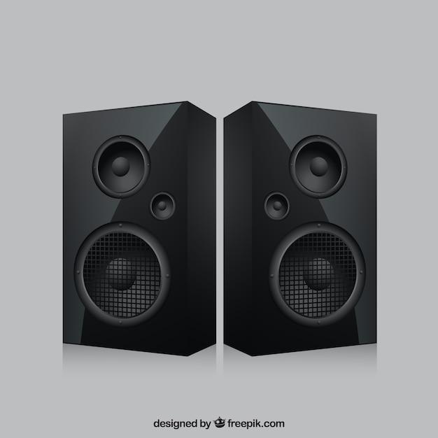 Realistische speakers Gratis Vector