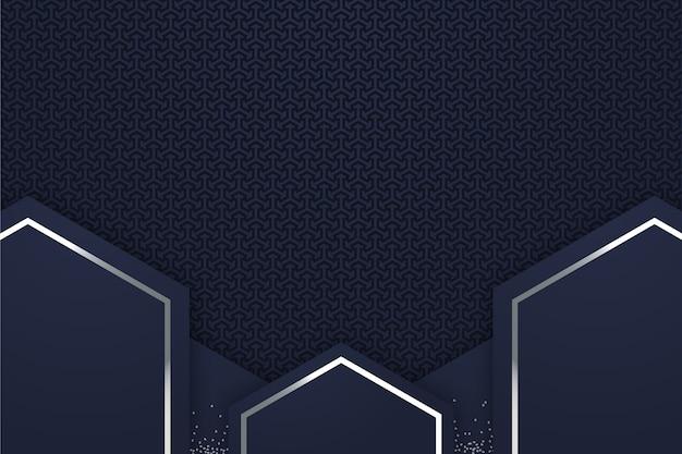 Realistische stijl geometrische vormen achtergrond Gratis Vector