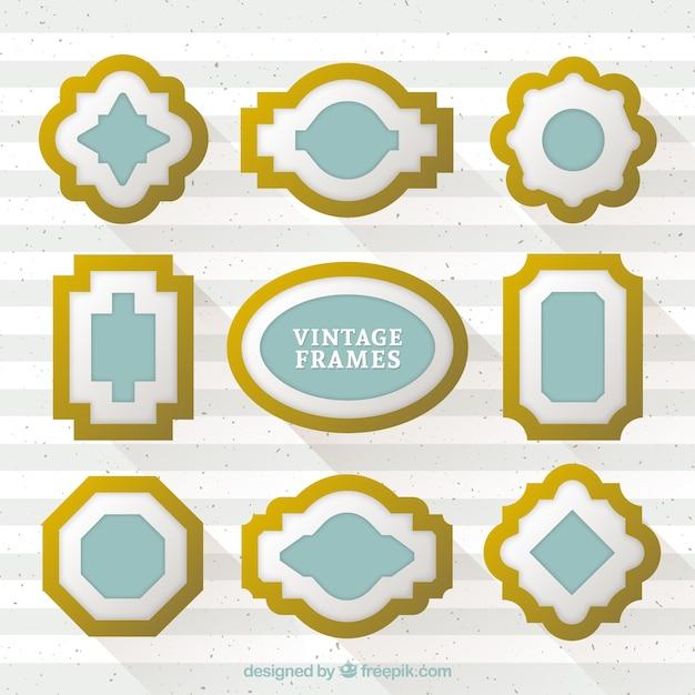 Realistische stijl vergulde frames Gratis Vector