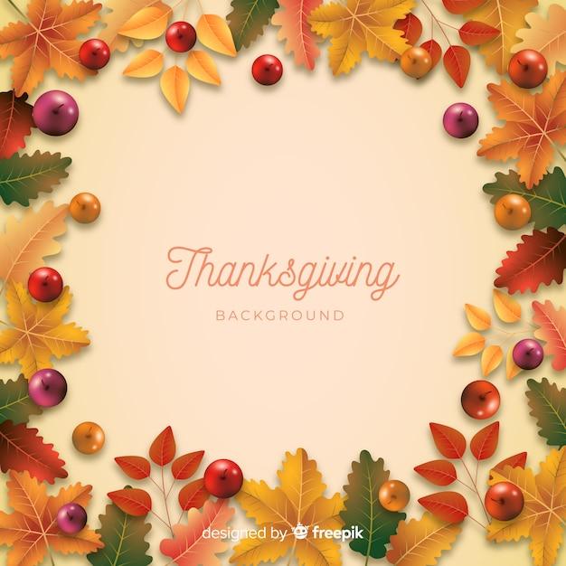 Realistische thanksgiving achtergrond Gratis Vector
