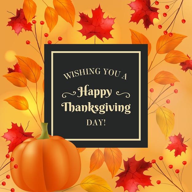 Realistische thanksgiving banner Gratis Vector