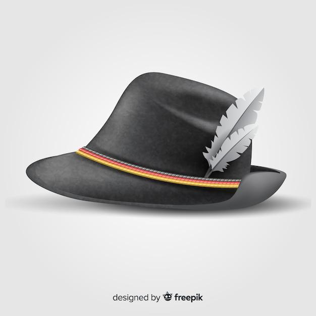 Realistische traditionele oktoberfest-hoed Gratis Vector