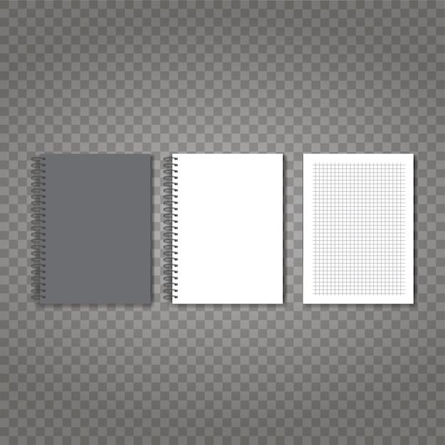 Realistische vector laptop set Premium Vector