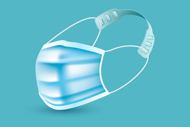 Realistische verstelbare gezichtsmaskerband Gratis Vector