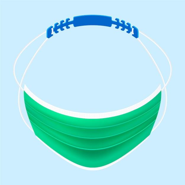 Realistische verstelbare lanyard voor het gezichtsmasker Gratis Vector