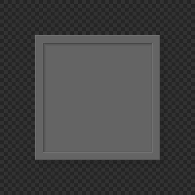 Realistische vierkante lege afbeeldingsframe op transparante achtergrond. Premium Vector