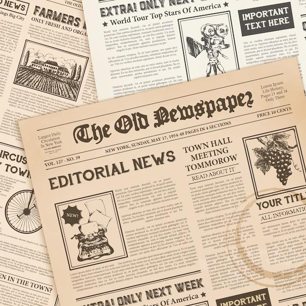 Realistische vintage papieren Gratis Vector