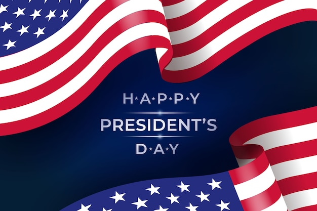 Realistische vlag voor president dag evenement Gratis Vector