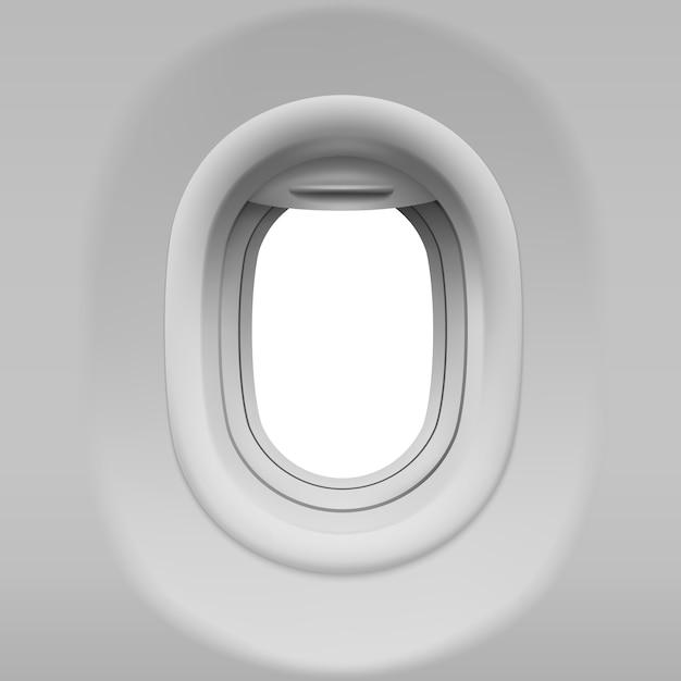 Realistische vliegtuigpatrijspoort Gratis Vector