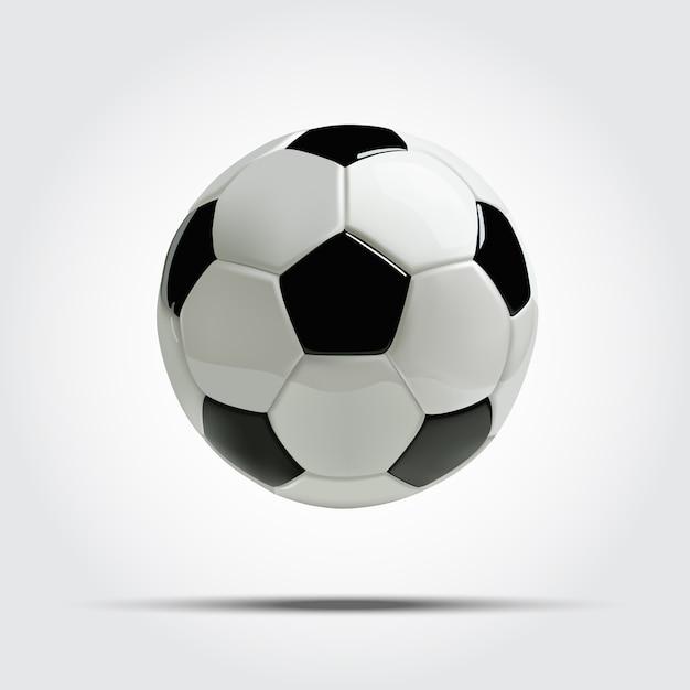Realistische voetbal of voetbal. Premium Vector
