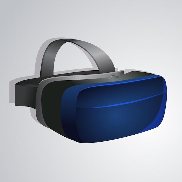 Realistische vr-headsetillustratie Gratis Vector