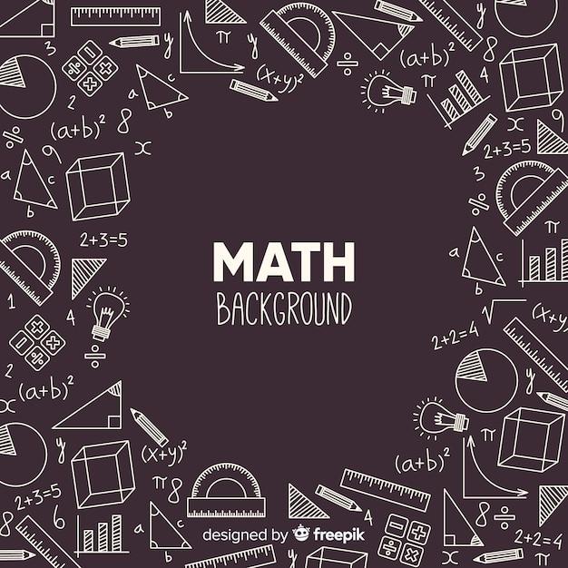 Realistische wiskunde schoolbord achtergrond Gratis Vector