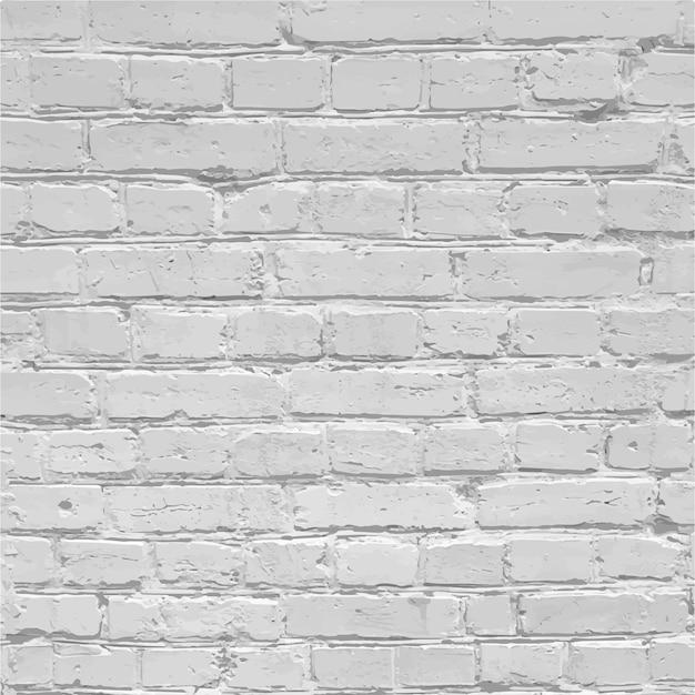 Realistische witte bakstenen muur textuur Premium Vector