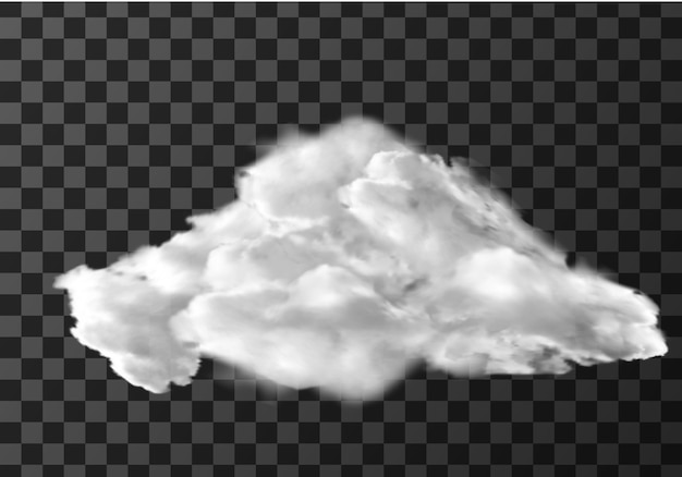 Realistische wolk op transparant Gratis Vector