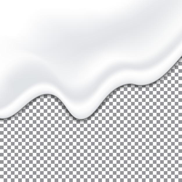 Realistische yoghurt witte textuur. mayonaisesaus. Premium Vector