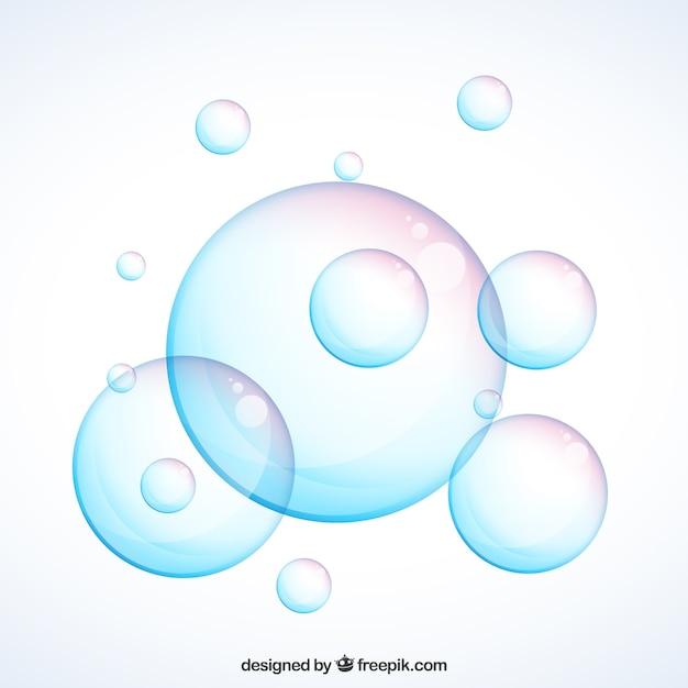 Realistische zeepbellen Gratis Vector