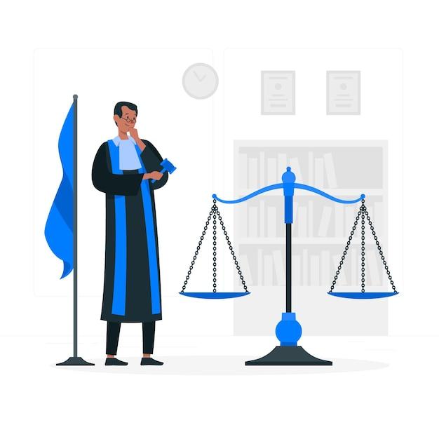Rechter concept illustratie Gratis Vector