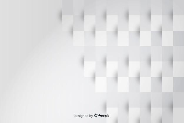 Rechthoek geometrische vormen van papier achtergrond Gratis Vector
