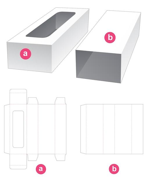 Rechthoekig dienblad met omslag gestanst sjabloon Premium Vector