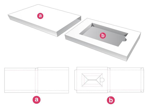 Rechthoekig inzetstuk met omslag gestanst sjabloon Premium Vector