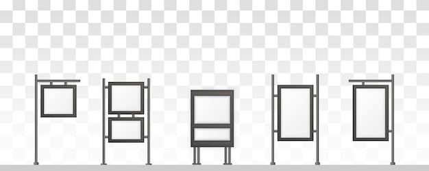 Rechthoekige bewegwijzering lichtbak uithangbord. digital signage geïsoleerd op een witte achtergrond. mockup voor reclame. illustratie. Premium Vector